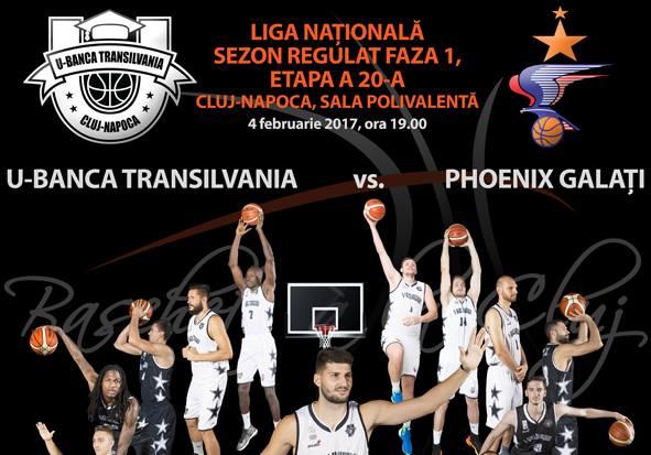 U-Banca Transilvania – Phoenix Galați @ Sala Polivalentă
