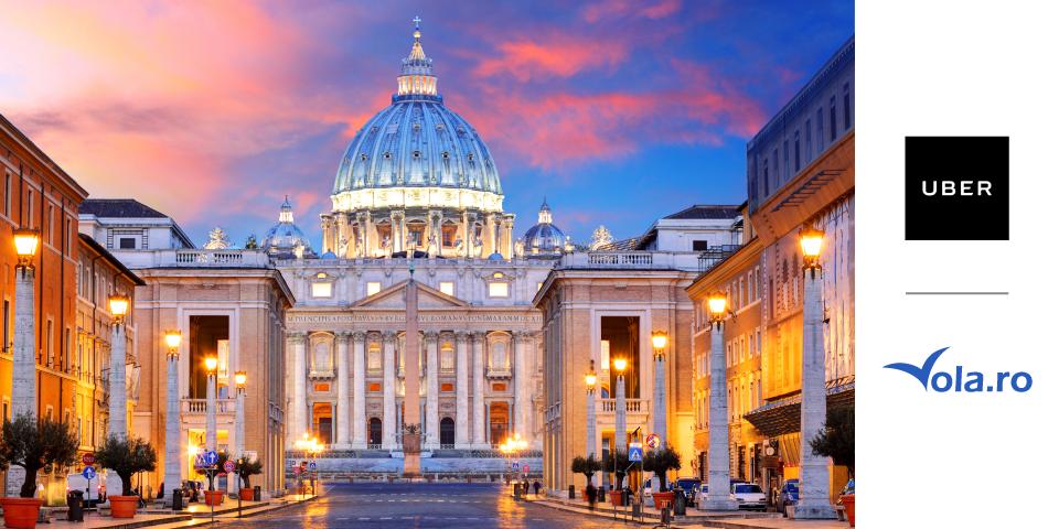 Invită-ți prietenii să folosească Uber și poți câștiga un city break la Roma oferit de Uber și Vola.ro