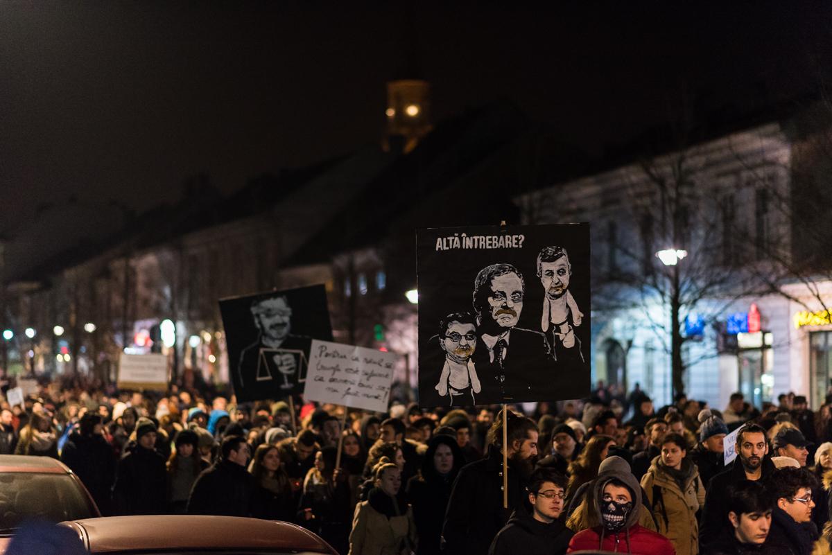 #protestCluj în 20 de imagini – 1 Februarie 2017