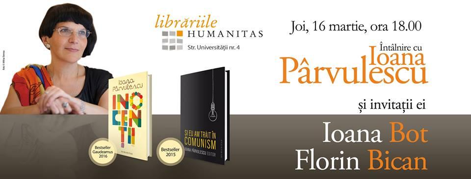 Întâlnire cu Ioana Pârvulescu @ Librăria Humanitas