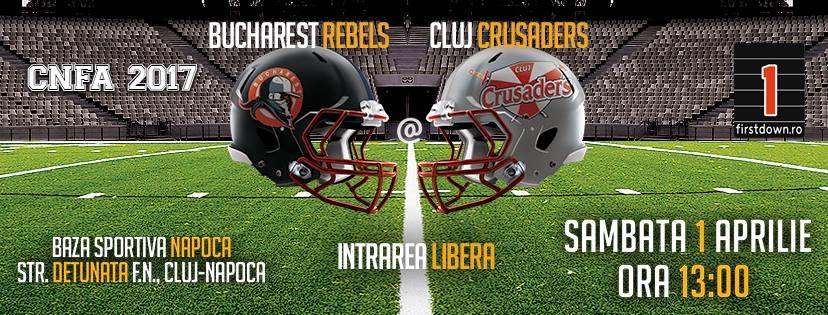Cluj Crusaders vs Bucharest Rebels @ Baza Sportivă Napoca