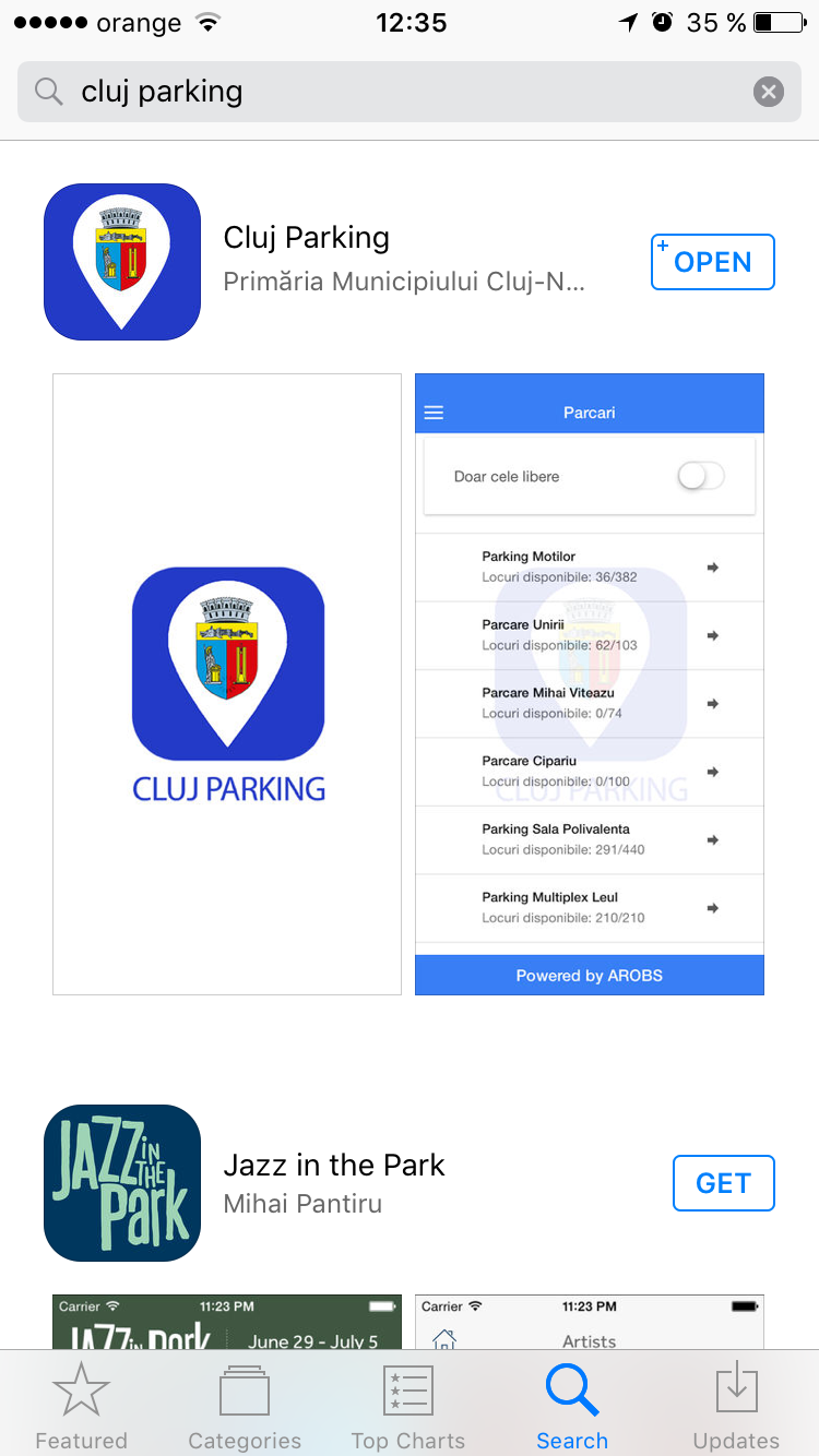 Cluj Parking – aplicația Primăriei pentru locurile de parcare din centrul Clujului