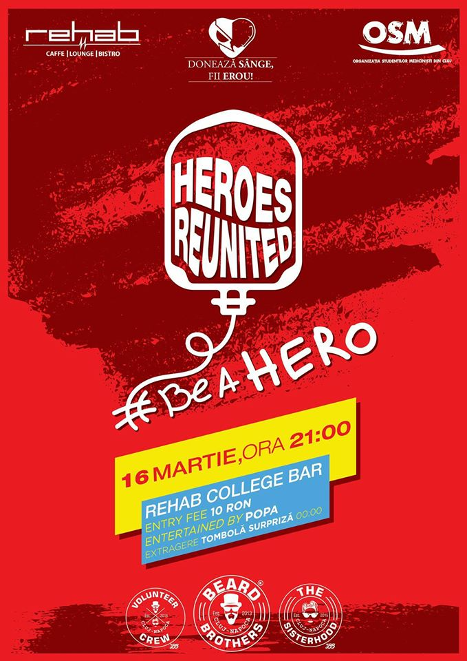 Heroes Reunited Party @ Rehab College Bar
