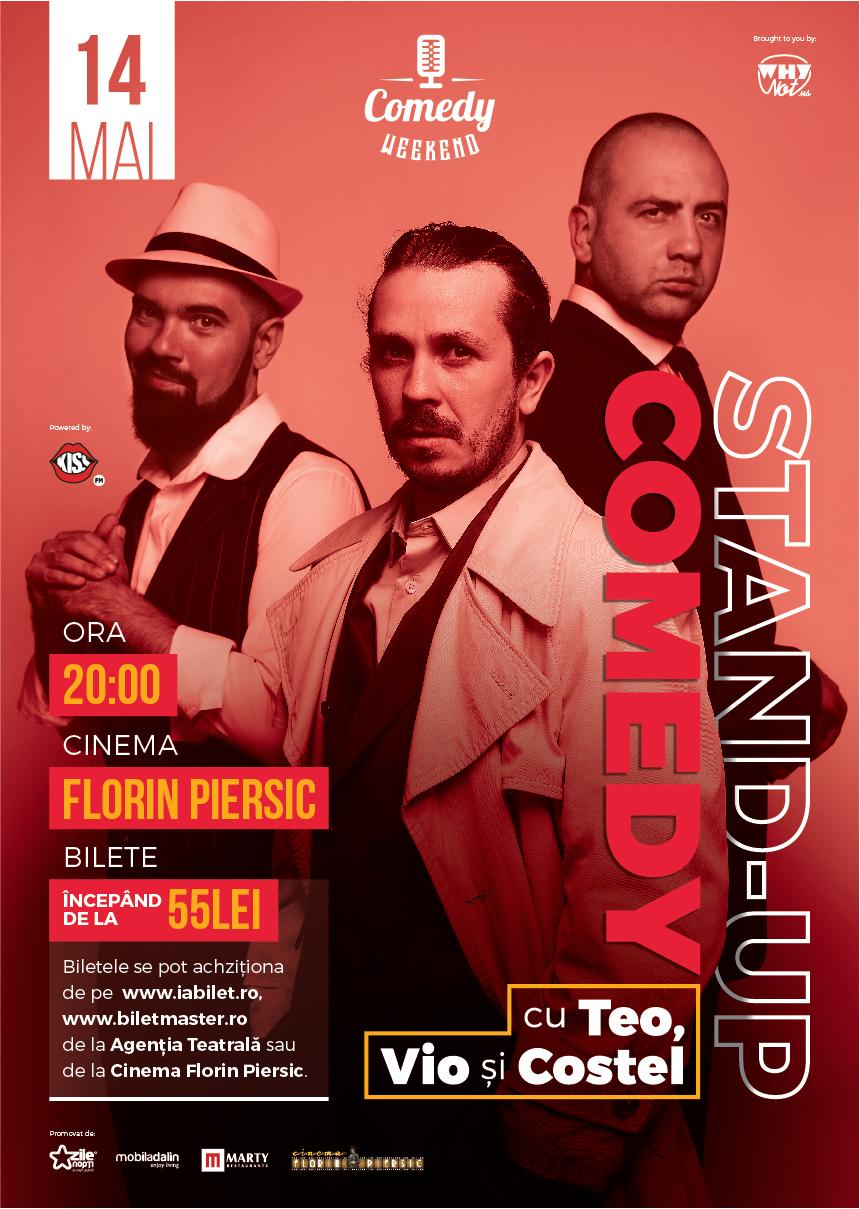 Teo, Vio și Costel @ Cinema Florin Piersic