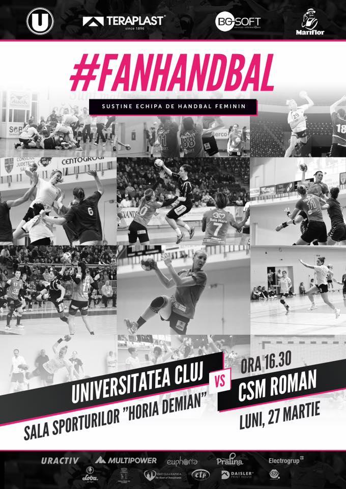 Universitatea Cluj – CSM Roman @ Sala Sporturilor