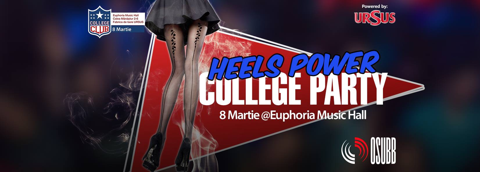 College Party – Heels Power @ Euphoria Music Hall