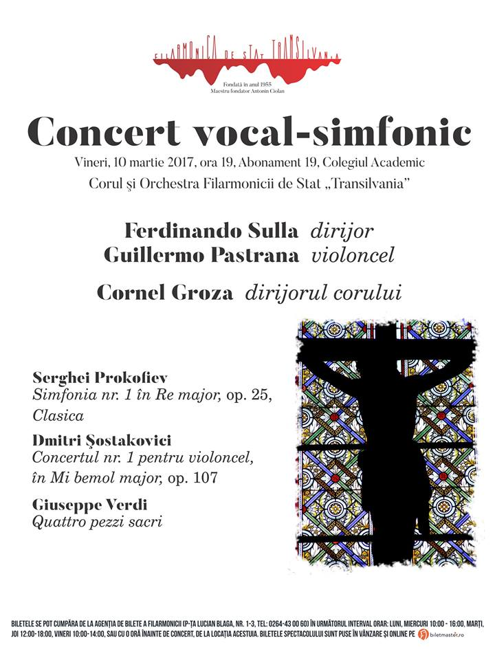 Concert vocal-simfonic – dirijor Ferdinando Sulla