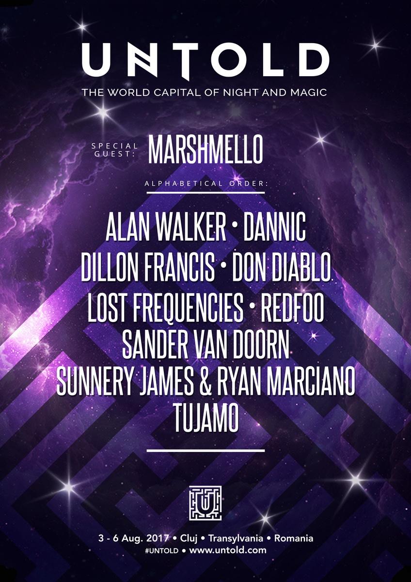 Marshmello și Alan Walker, confirmați la Untold 2017