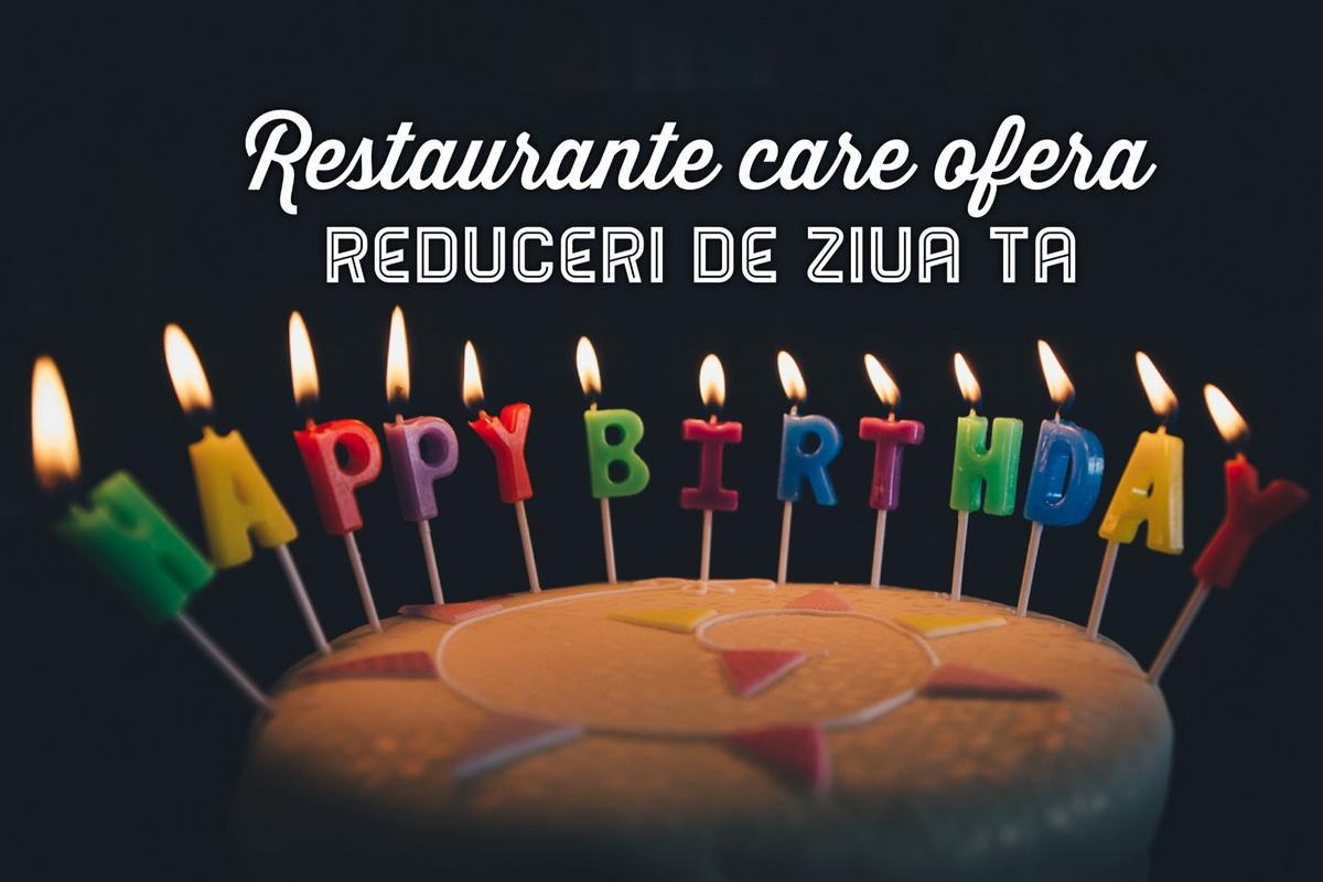 Restaurante din Cluj care oferă reduceri de ziua ta