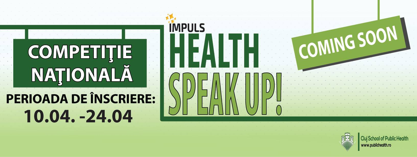 "Competiție națională ""Health Speak Up"""