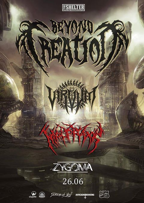 Beyond Creation, Virvum, Zygoma, Malpraxis @ The Shelter