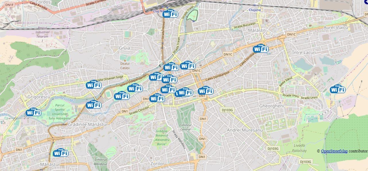 Locuri publice din Cluj cu Wi-Fi gratuit