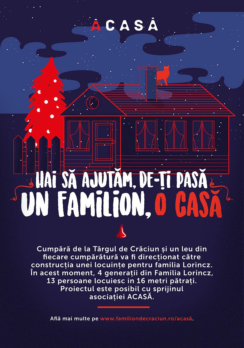 Hai să ajutăm, de-ți pasă: Un FAMILION, O CASĂ!