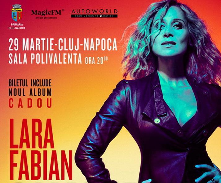 Lara Fabian revine la Cluj în cadrul turneului de promovarea a noului său album, Camouflage