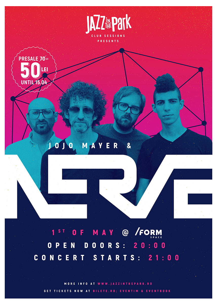 Jojo Mayer/Nerve, de 1 Mai la Jazz in the Park Club Sessions