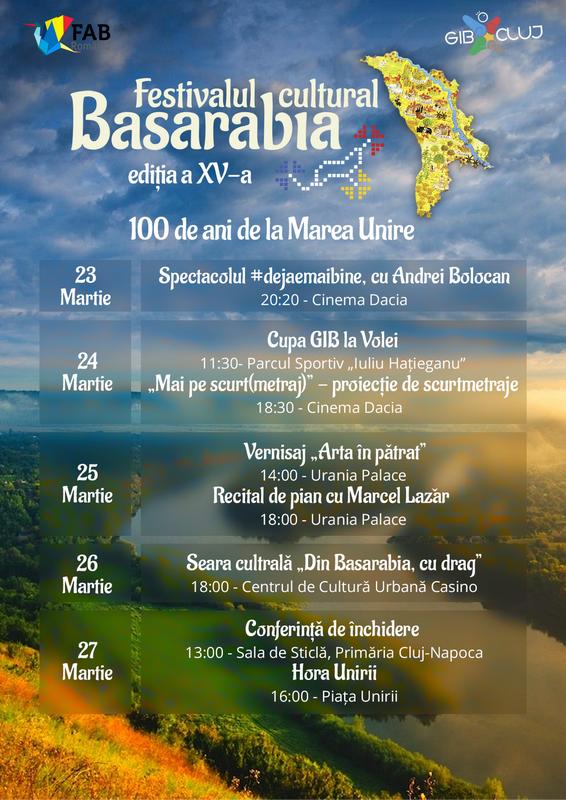 Festivalul Cultural Basarabia a ajuns la ediția a XV-a – 100 de ani de la Marea Unire
