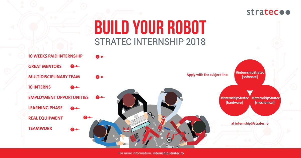 Studenţii interesaţi de software, inginerie electronică și design mecanic sunt provocați să construiască un robot funcțional