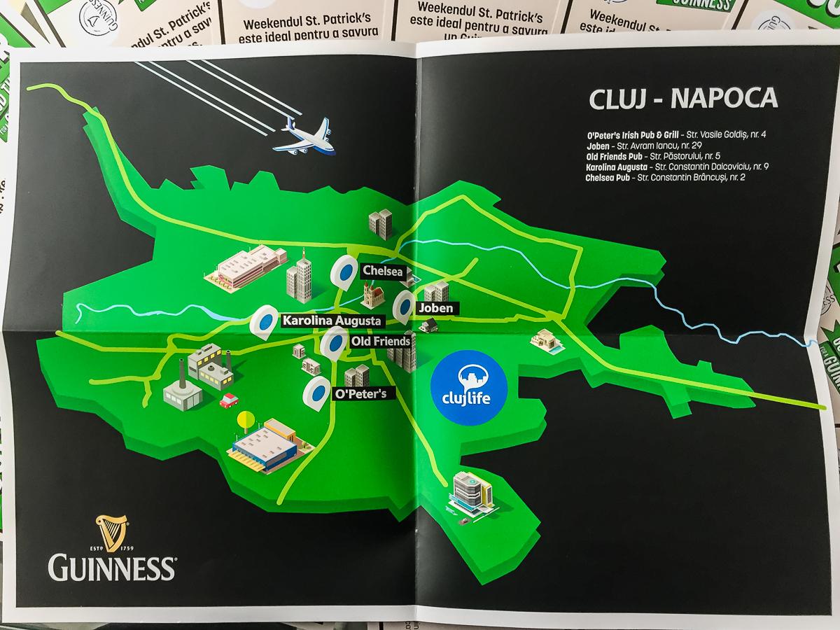 Hai cu noi la un Guiness #PubCrawl de St. Patrick's Day