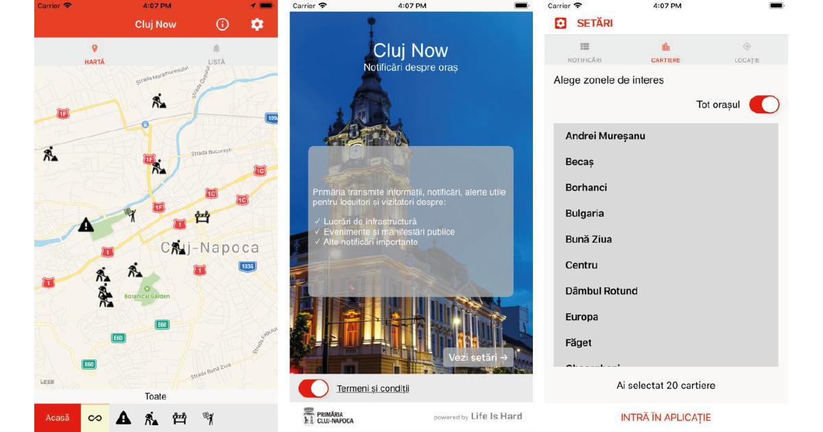 S-a lansat aplicația Cluj Now – Notificări oficiale despre oraș