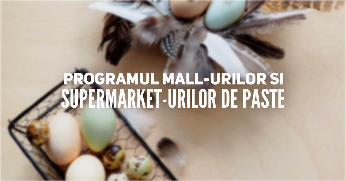 Programul mall-urilor și supermarket-urilor din Cluj de Paște (2019)
