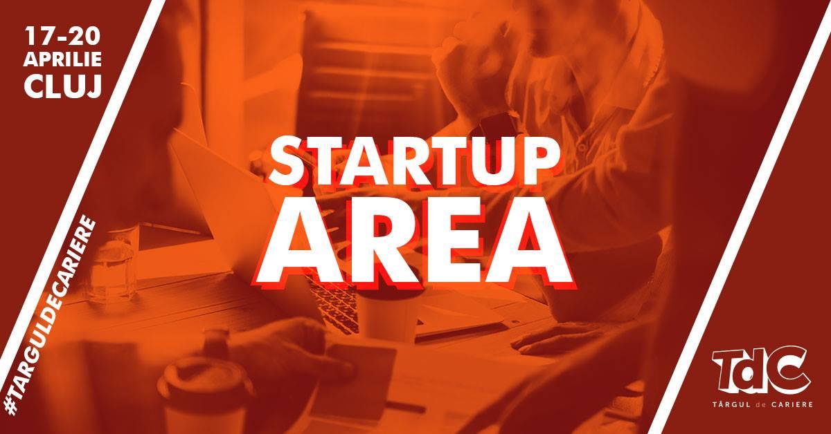 Startup Area la Târgul de Cariere