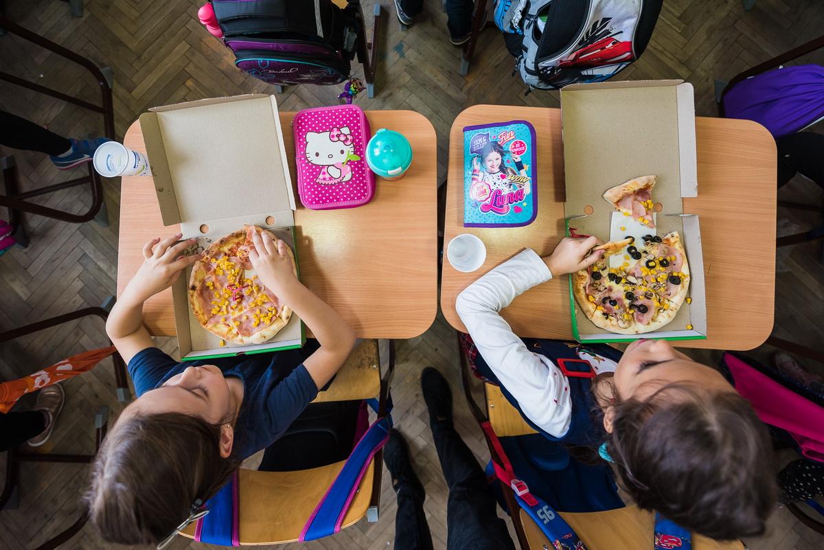 Am întrebat o clasă de copii dacă le place Pizza Kidz de la Grande