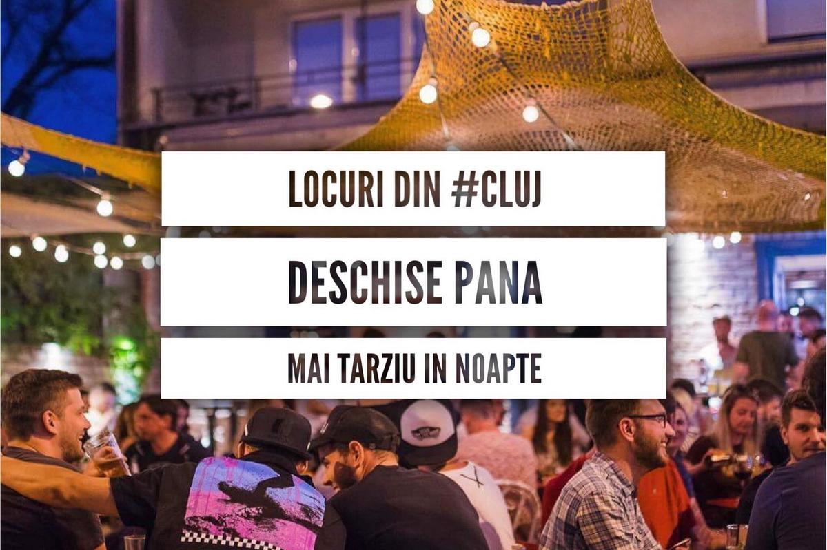 Locuri din Cluj deschise până mai târziu în noapte