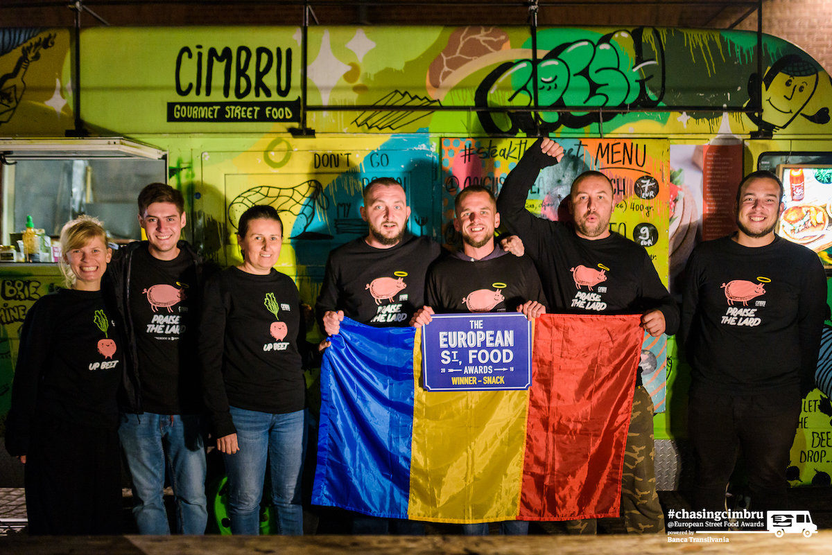 "#ChasingCimbru: faceți cunoștință cu echipa care a câștigat ""Best Snack"" la European Street Food Awards 2018"