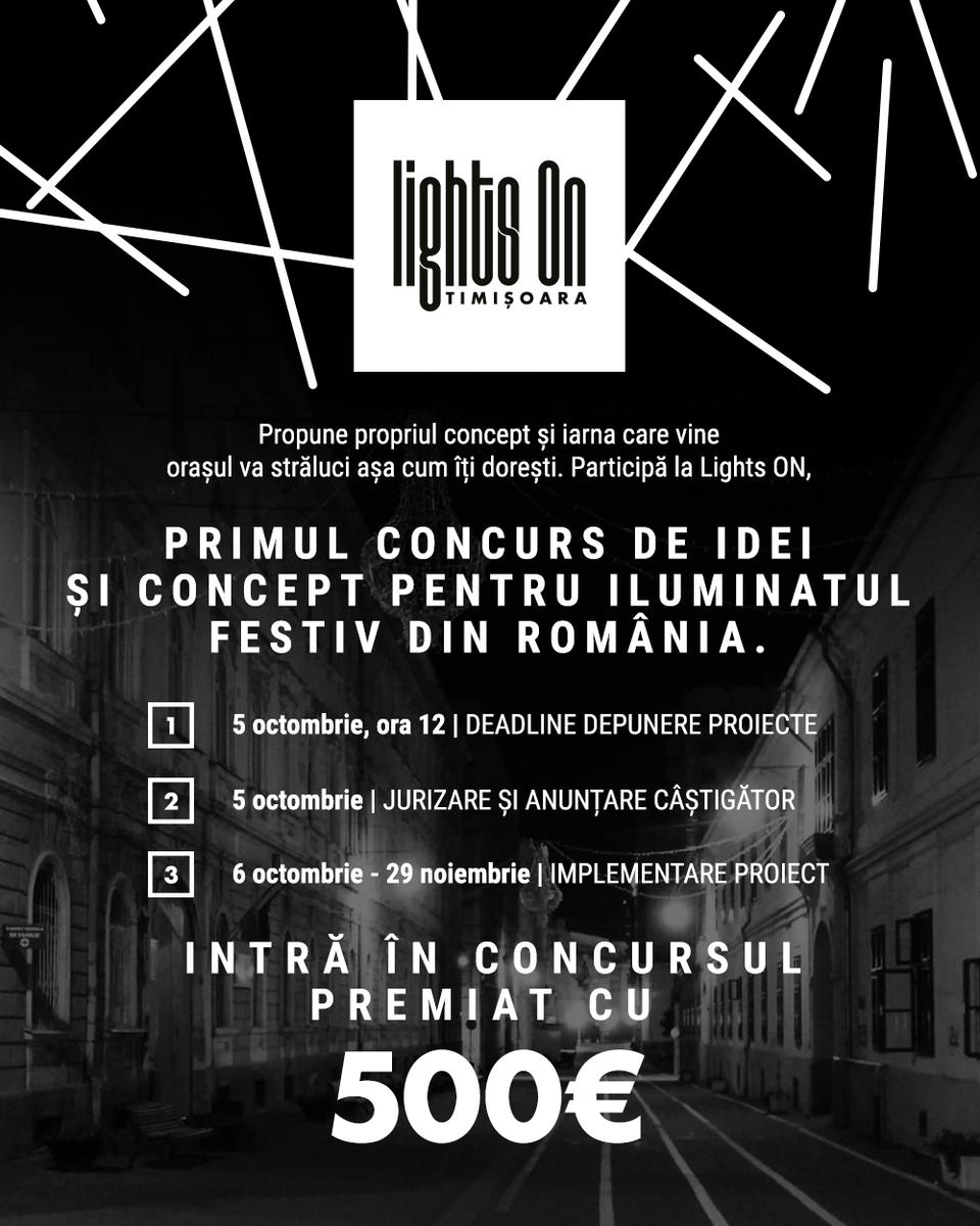 Lights ON, concurs pentru iluminatul festiv, se lansează și în Timișoara