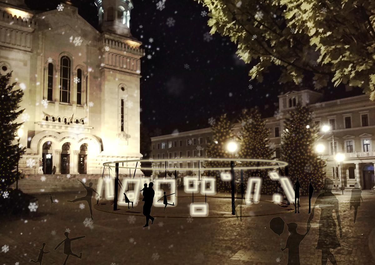 """Proiectul câștigător al concursului Lights ON Cluj-Napoca este """"SWING WITH LIGHT"""""""