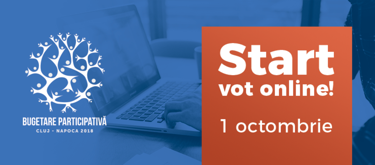 A început prima etapă de vot în cadrul procesului Bugetare participativa Cluj-Napoca 2018