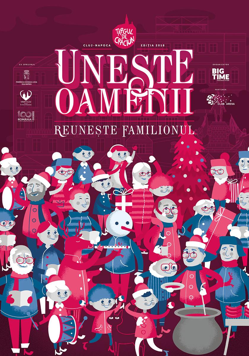 Târgul de Crăciun din Cluj unește oamenii, reunește familionul