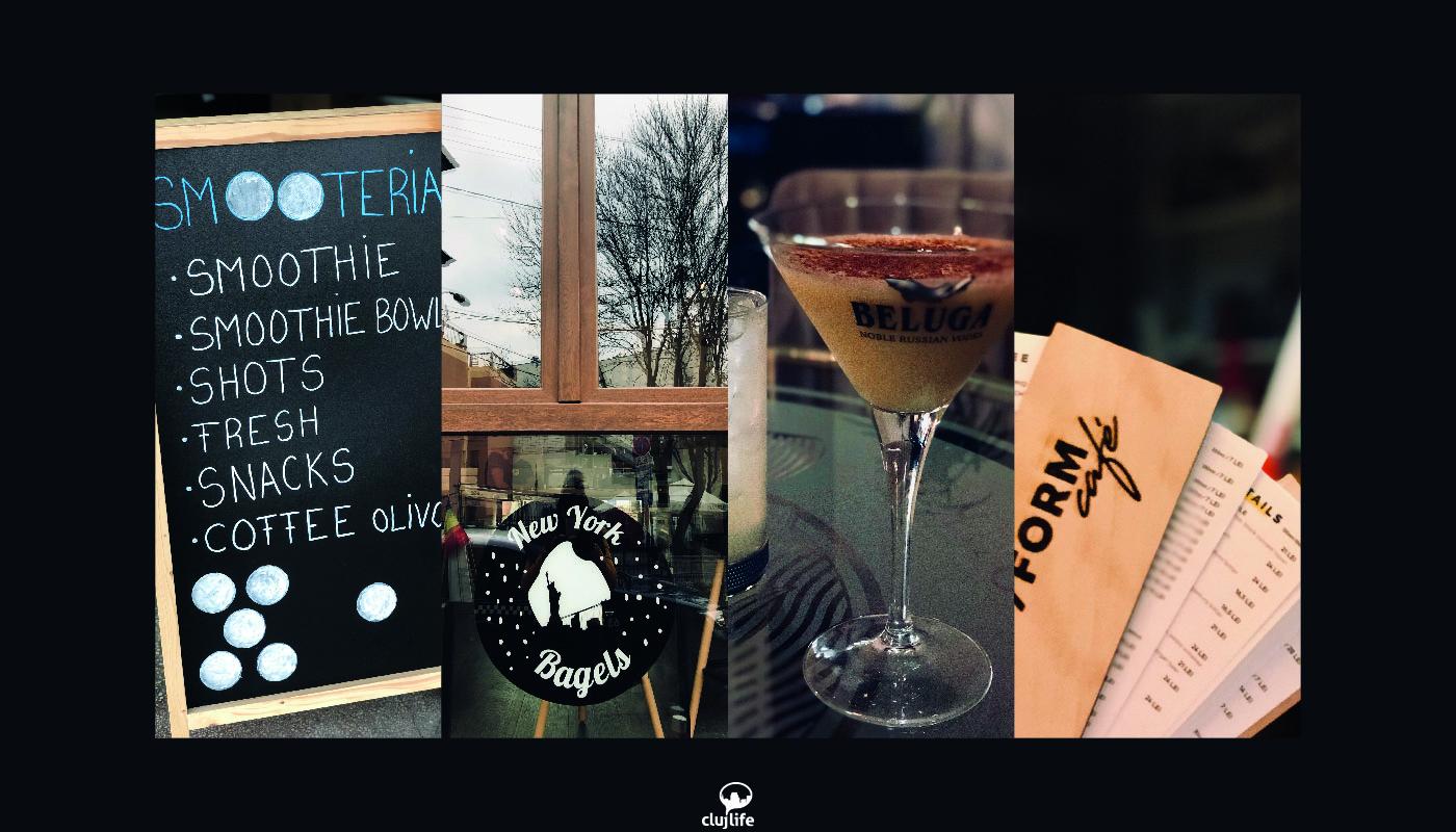 4 localuri recent deschise în Cluj: Beluga, New Yorks Bagels, Smooteria și /FORM Cafe