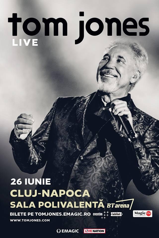 Sir Tom Jones concertează pentru prima dată la Cluj-Napoca!