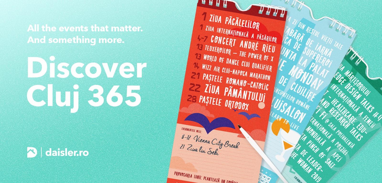 4 motive pentru care merită să dăruiești calendarul #Cluj365 de la Daisler