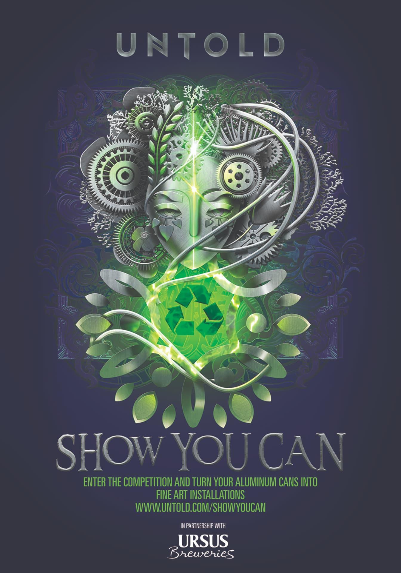 """UNTOLD lansează astăzi competiția internațională """"SHOW YOU CAN"""", pe tema reciclării"""