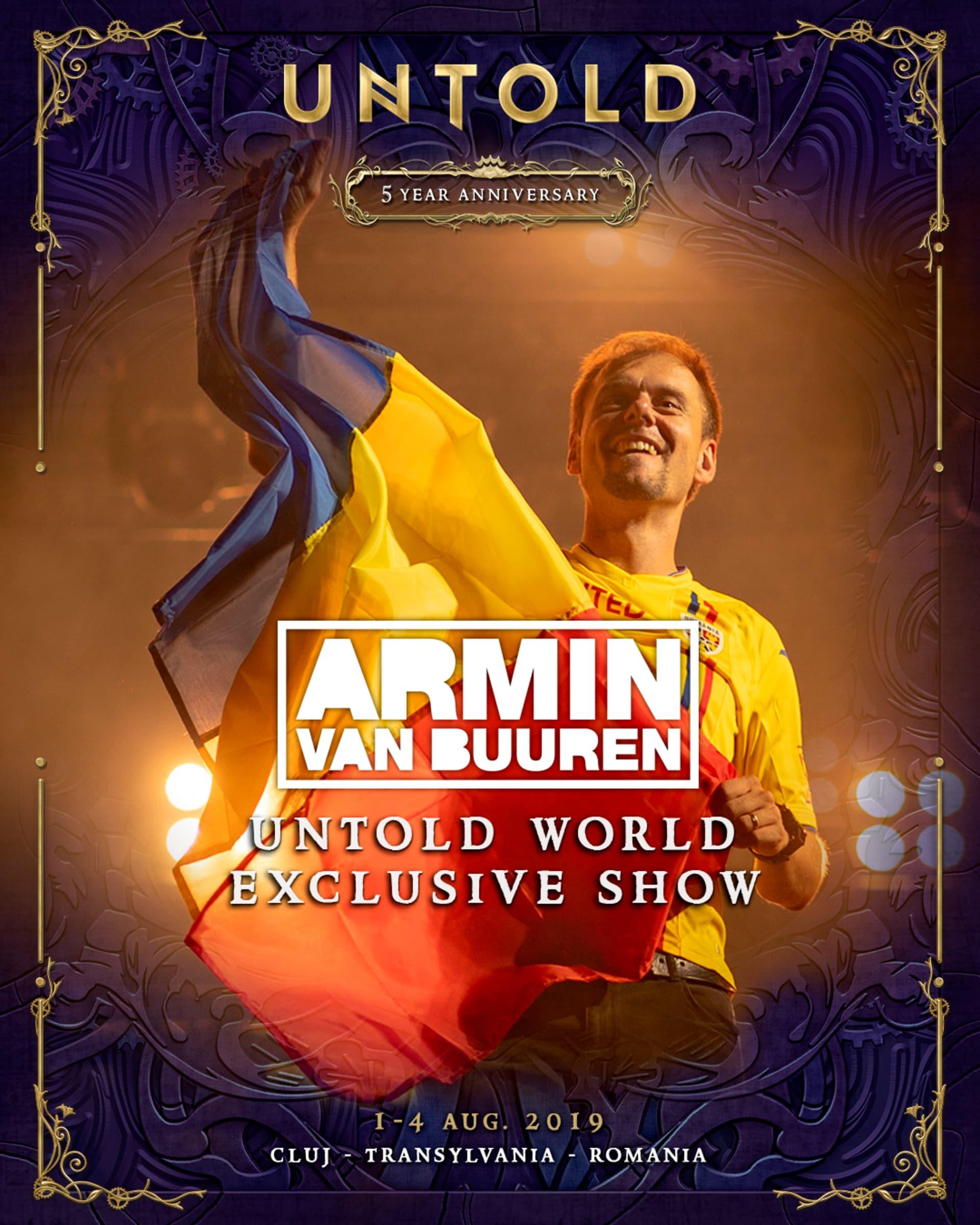 """Show exclusiv """"Armin Untold"""" la UNTOLD 2019!"""