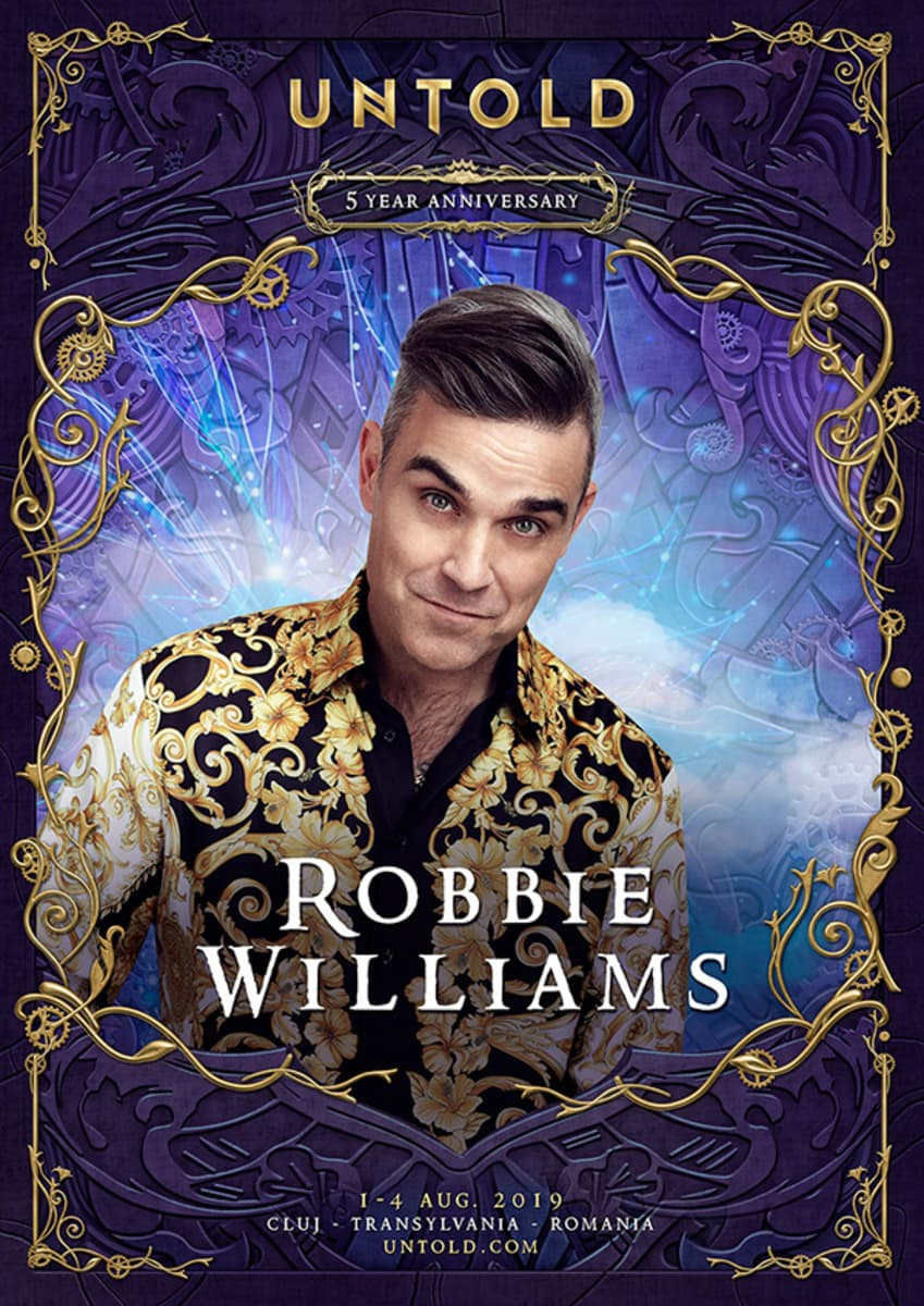Robbie Williams pe scena UNTOLD 2019!