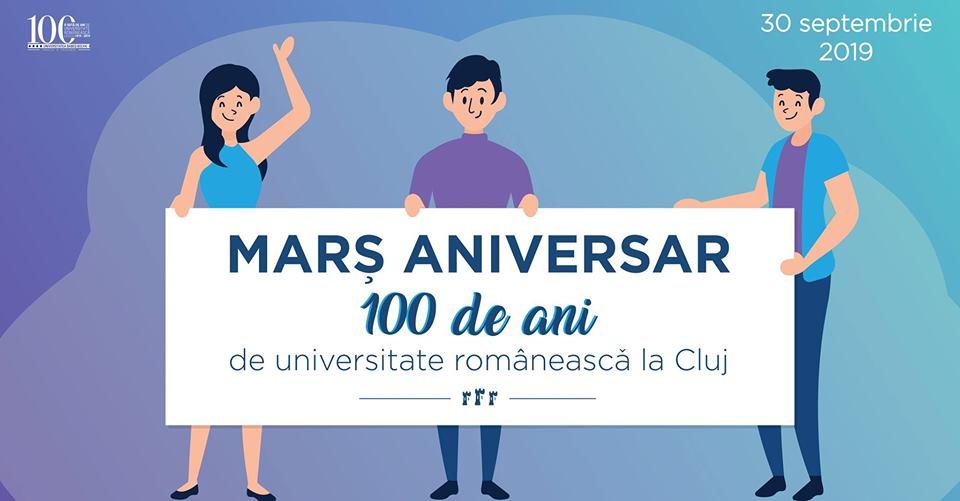 Marșul UBB 100 de ani de universitate românească la Cluj