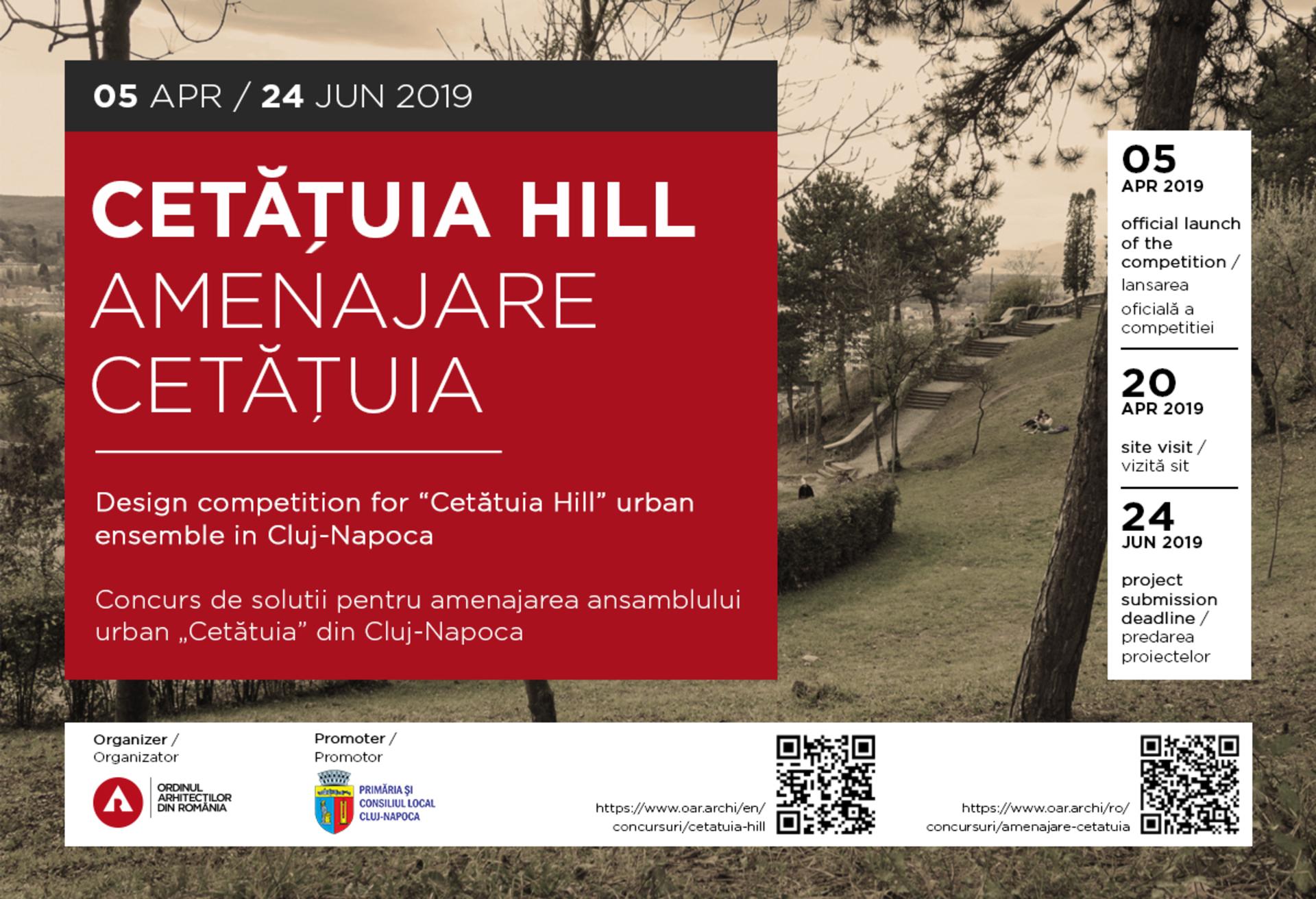 """Rezultatele concursului internațional de soluții pentru  """"Amenajarea Cetățuia Cluj-Napoca"""""""