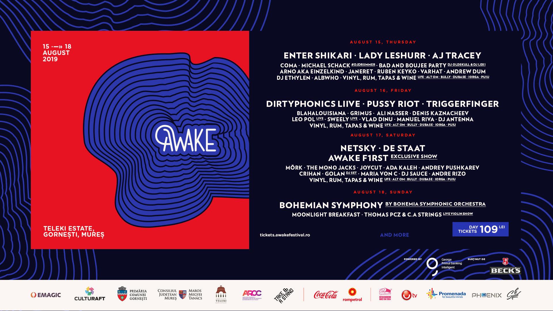 AWAKE anunță programul pe zile și încă două surprize din line-up-ul celei de-a treia ediții