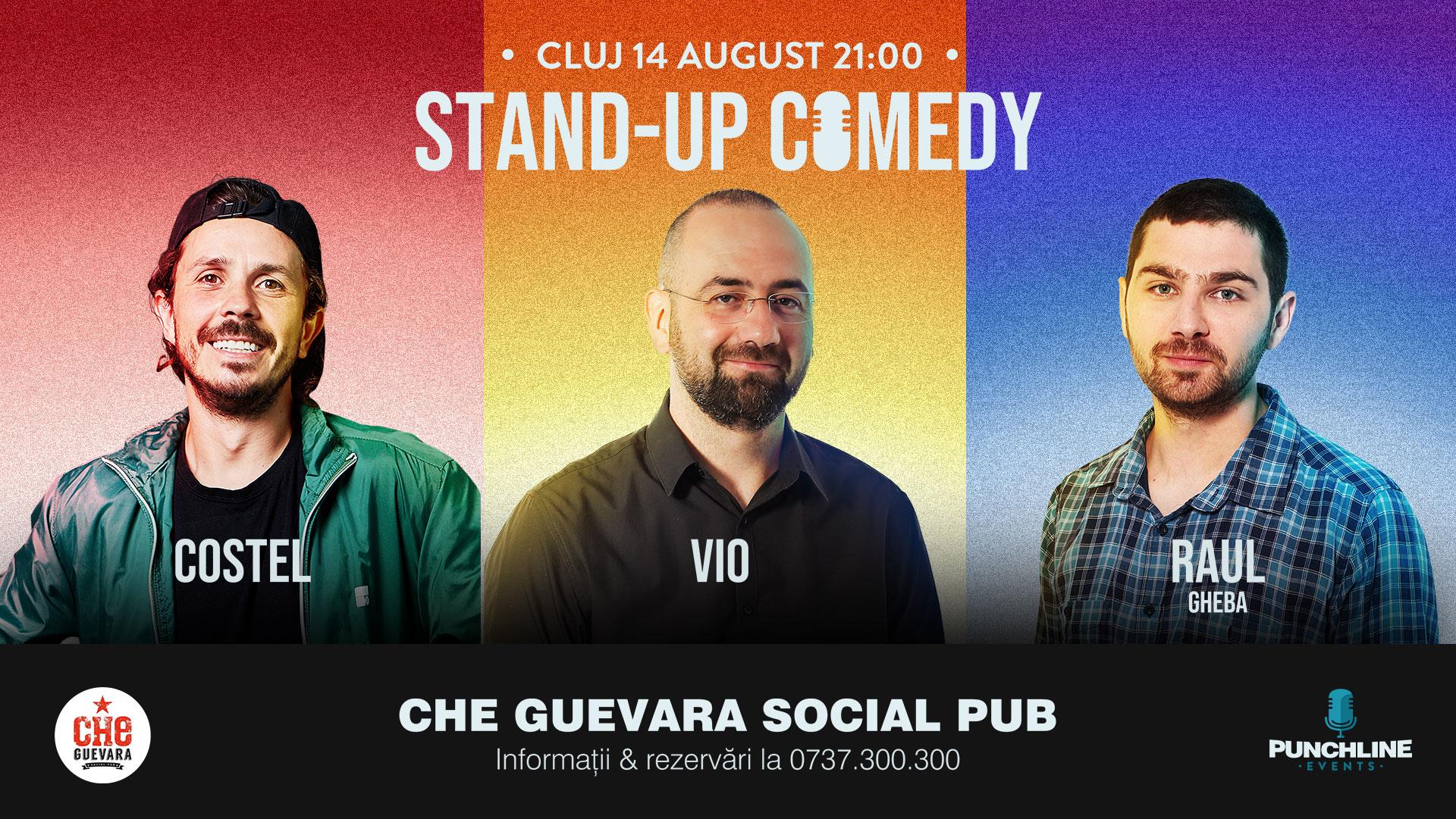 Stand Up Comedy cu Costel, Vio & Raul Gheba