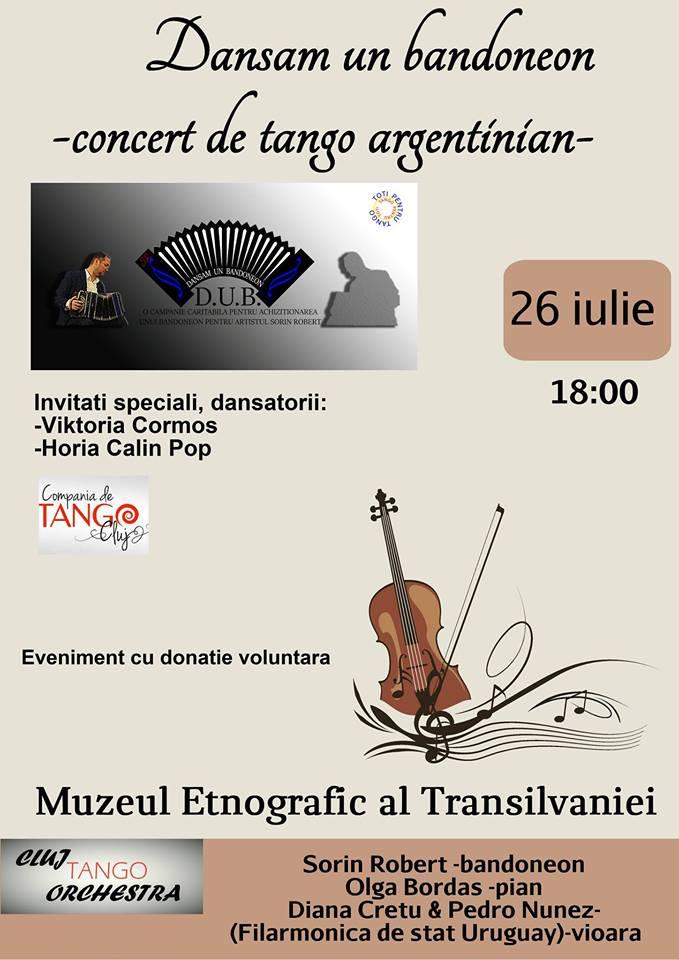 """Dansam un bandoneon"" – Concert de tango argentinian"