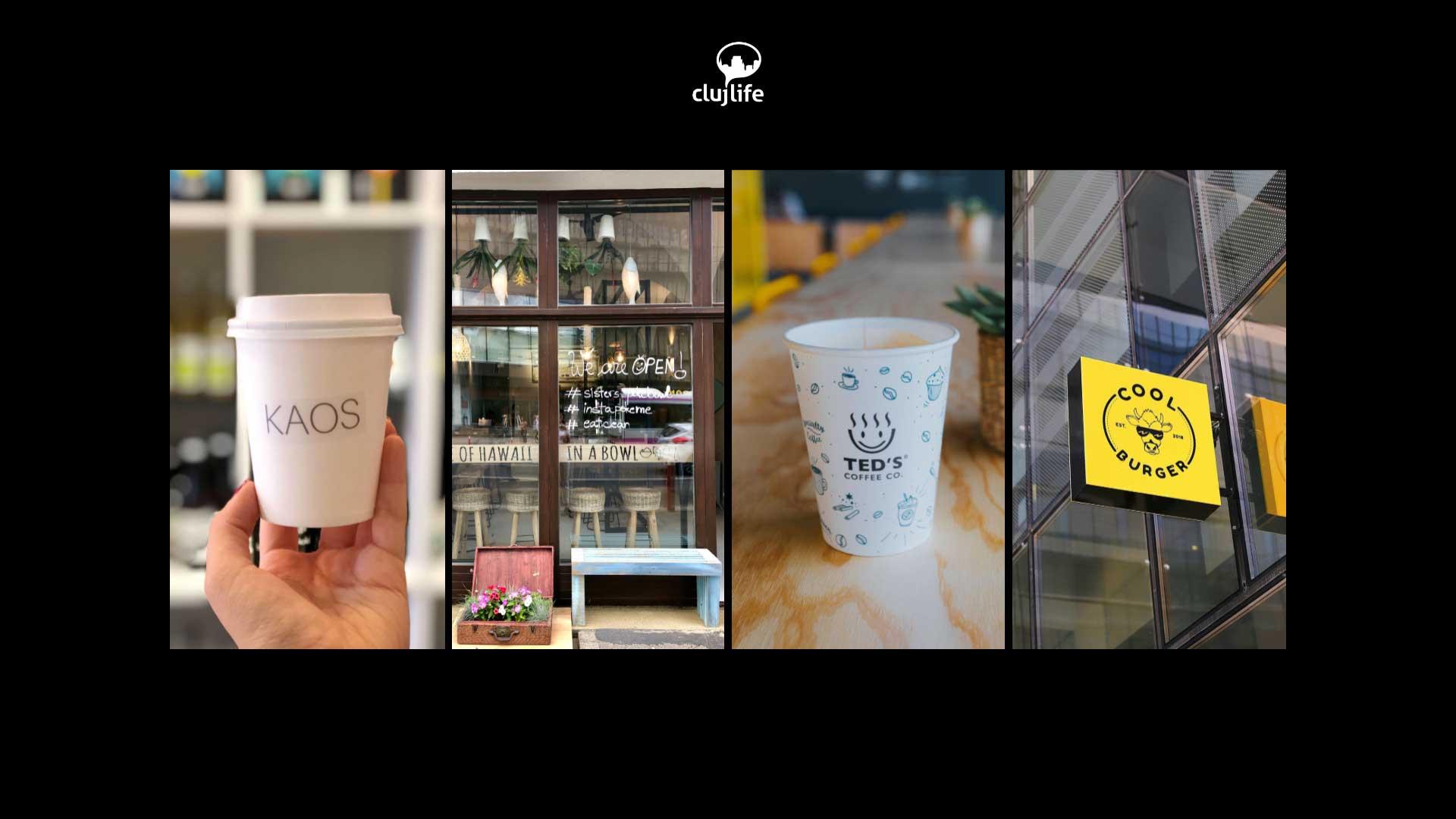 4 localuri recent deschise în Cluj: Ted`s Coffee Riviera, KAOS, Sisters Poke Bowl și Cool Burger