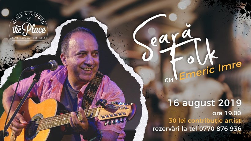 Seară de folk cu Emeric Imre @ The Place