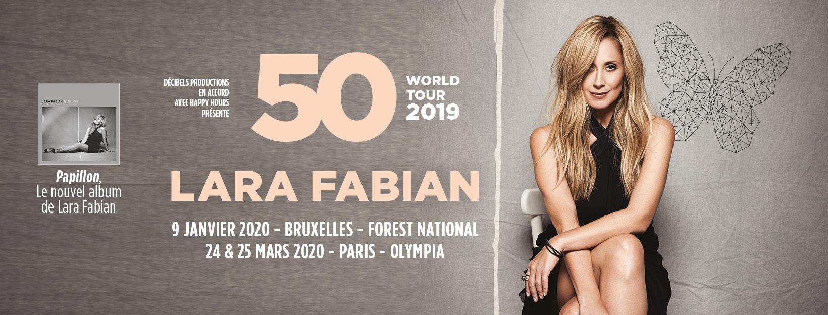 """Lara Fabian – """"50"""" World Tour"""