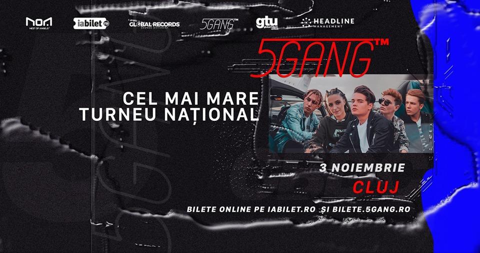 Concert 5GANG – Club NOA Cluj