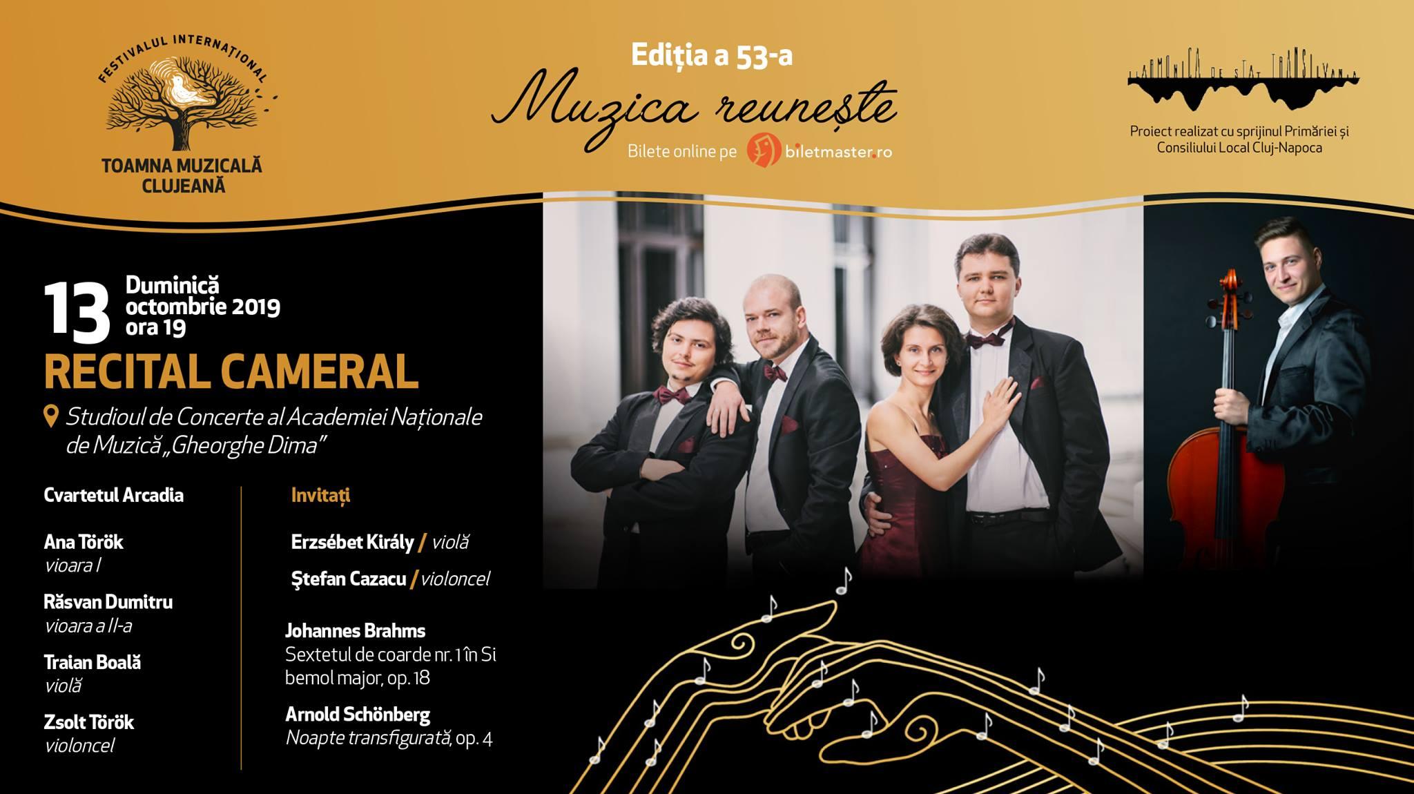Cvartetul Arcadia – recital cameral