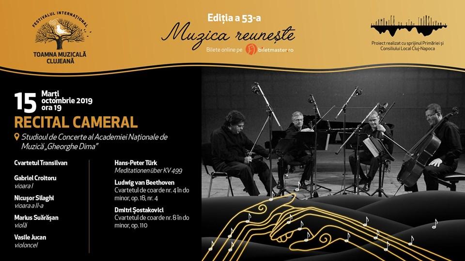 Cvartetul Transilvan – recital cameral