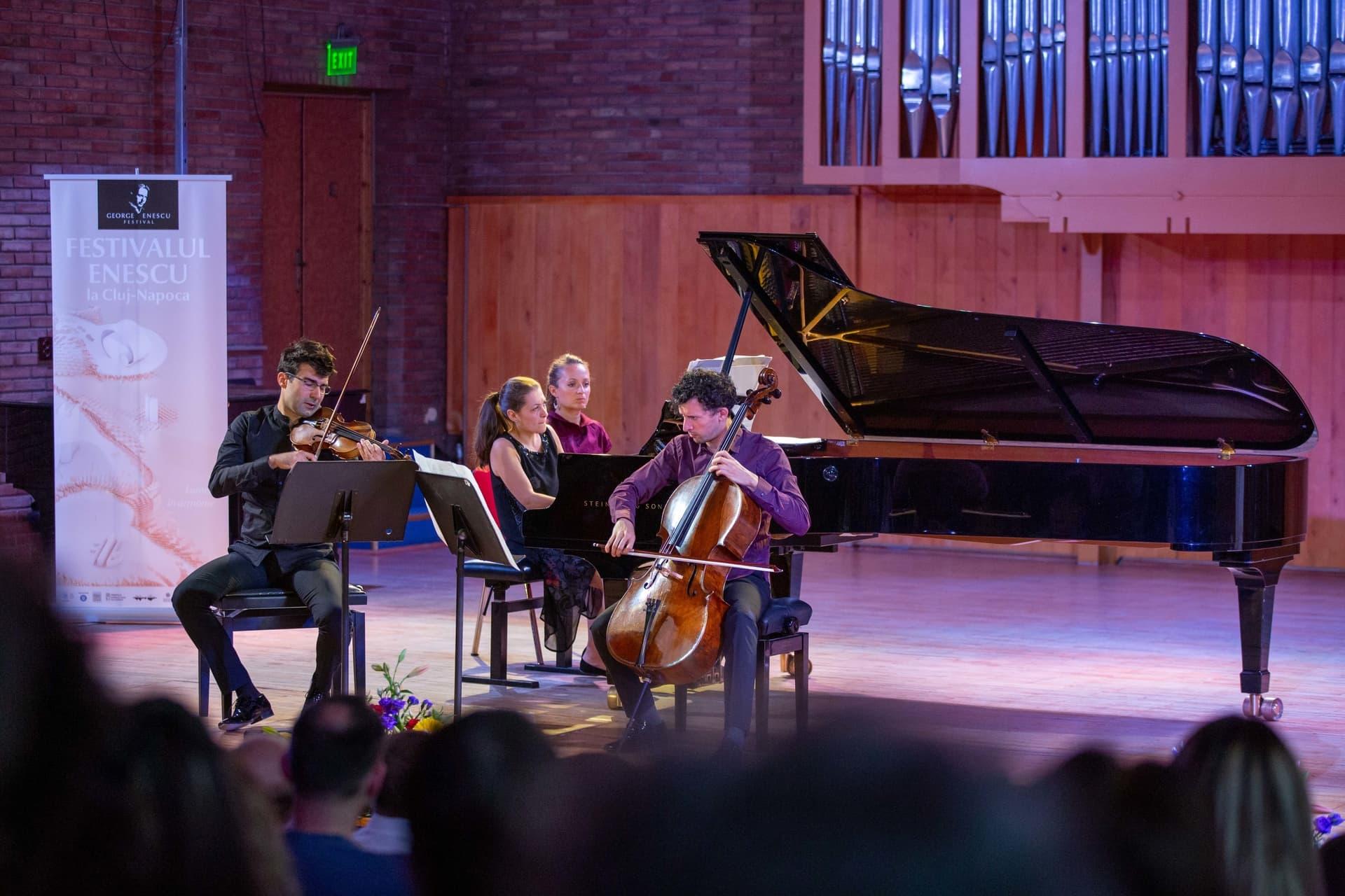 Charles Hamelin și Monte Piano Trio au concertat la Festivalul Enescu de la Cluj